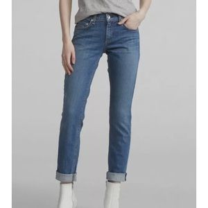 Rag & Bone Dre Boyfriend Fit Blue Jeans Sz 25